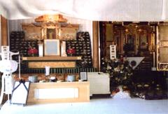 仏式白木祭壇(脇生花付)