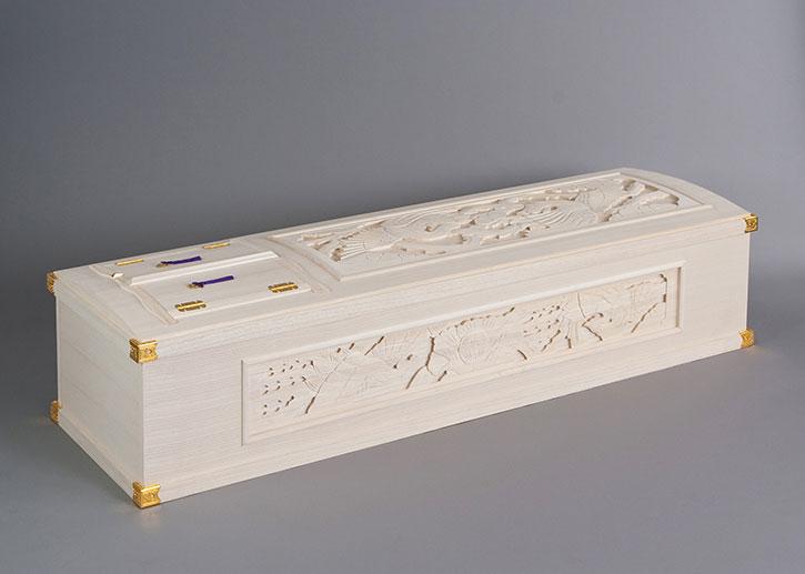 桐五面彫刻棺